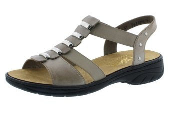 Rieker sandal grå Vidd E 1/2