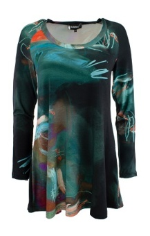 Top Long Sleeve aqua print