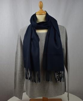 Halsduk enfärgad mörkblå