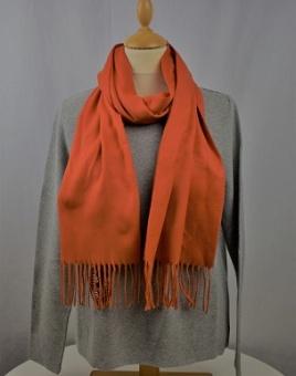 Halsduk enfärgad orange