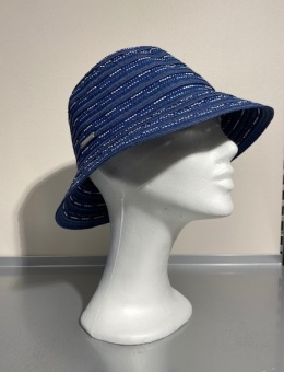Hatt Cloche ribb ink blue