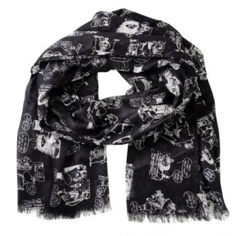 Mumin scarf dark grey