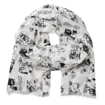 Mumin scarf white