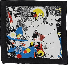Mumin Number One bandana black