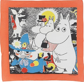 Mumin Number One bandana orange