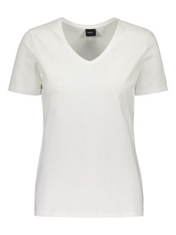 Topp v-hals org bomull white