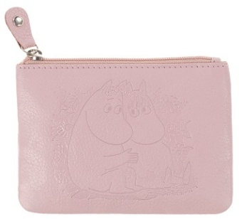 Mumin leather coin wallets rosa