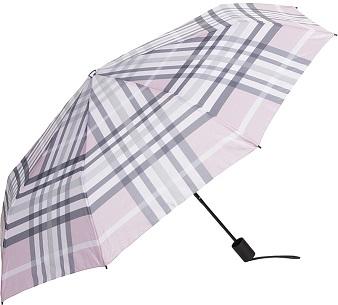 Paraply rosa/randig