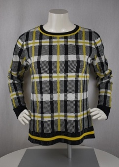 Pullover svart/gul