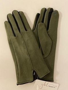 Touchhandske oliv