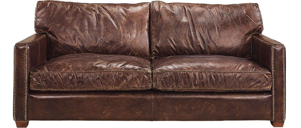Viscount 3-sits soffa Leather Vintage Cigar