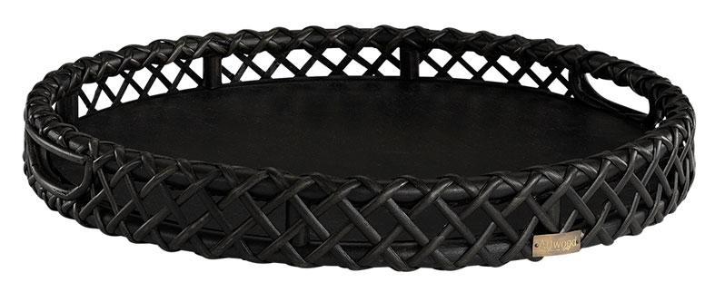 Aspen bricka rund svart Ø50H7