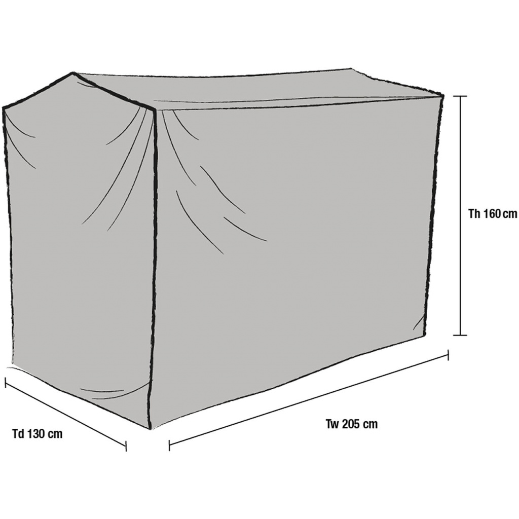Hammockskydd rakt 130x205x160
