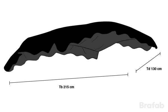 Hammocktak välft svart