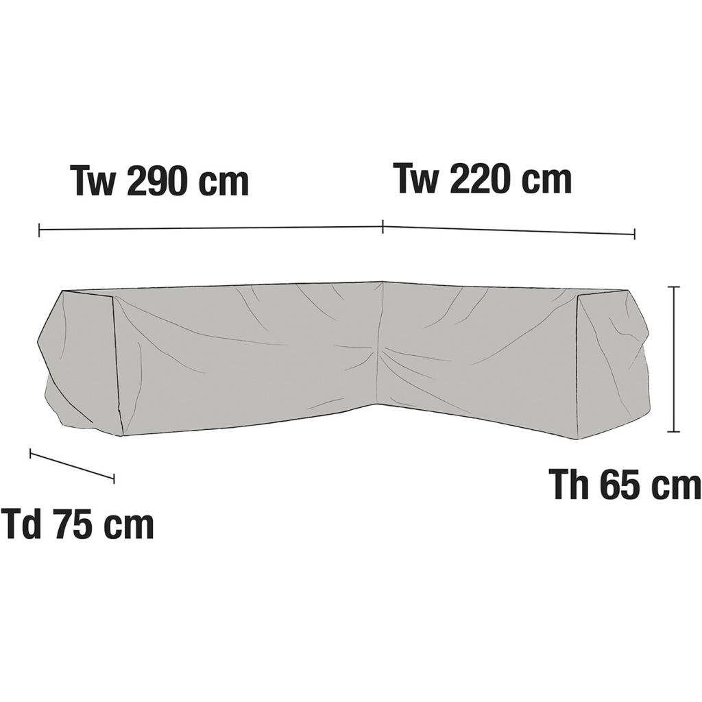 Hörnsoffa möbelskydd V220/H290H65 cm