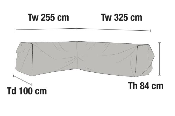 Möbelskydd hörnsoffa V325/H255x100H84