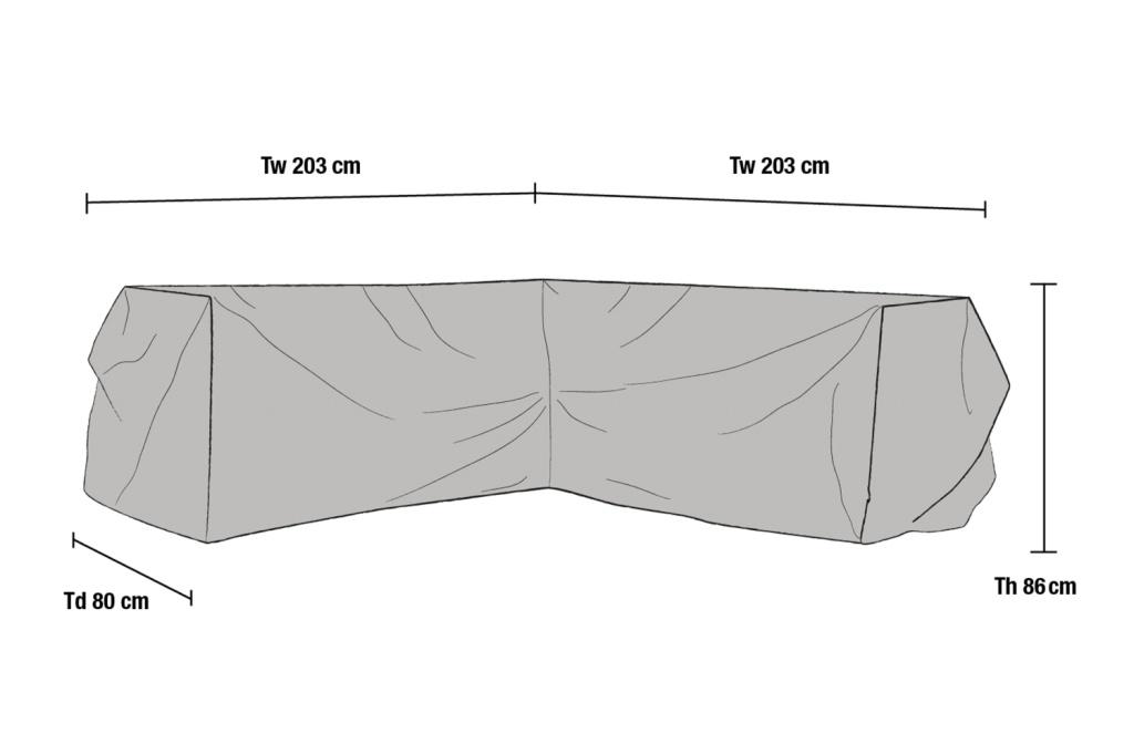 Hörnsoffa möbelskydd V203/H203x80H86