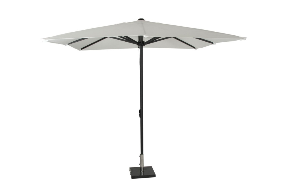 Anzio parasoll 2,5x2,5 svart/vit