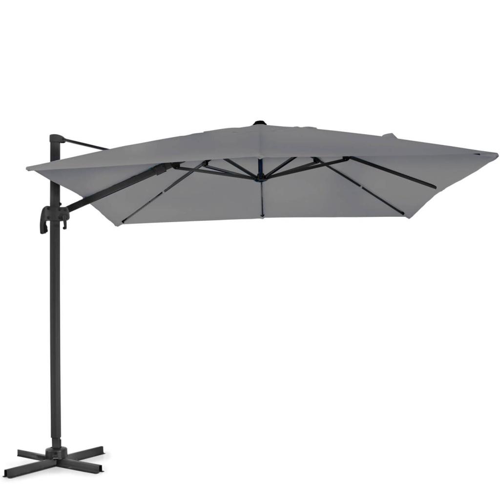Linz parasoll 3x3 svart/grå