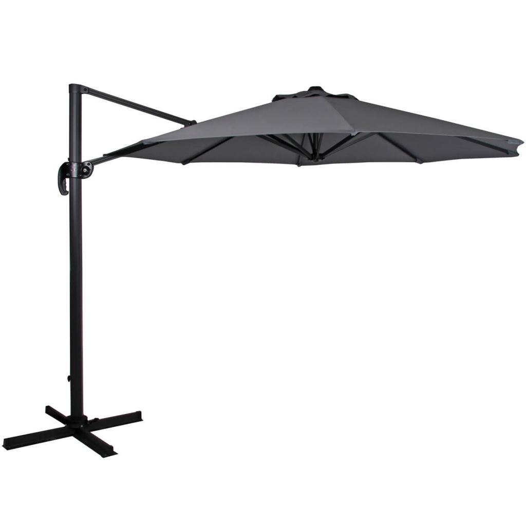 Linz parasoll Ø3m svart/grå