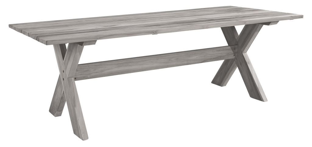 Cross matbord 220x100H76 instant grey teak