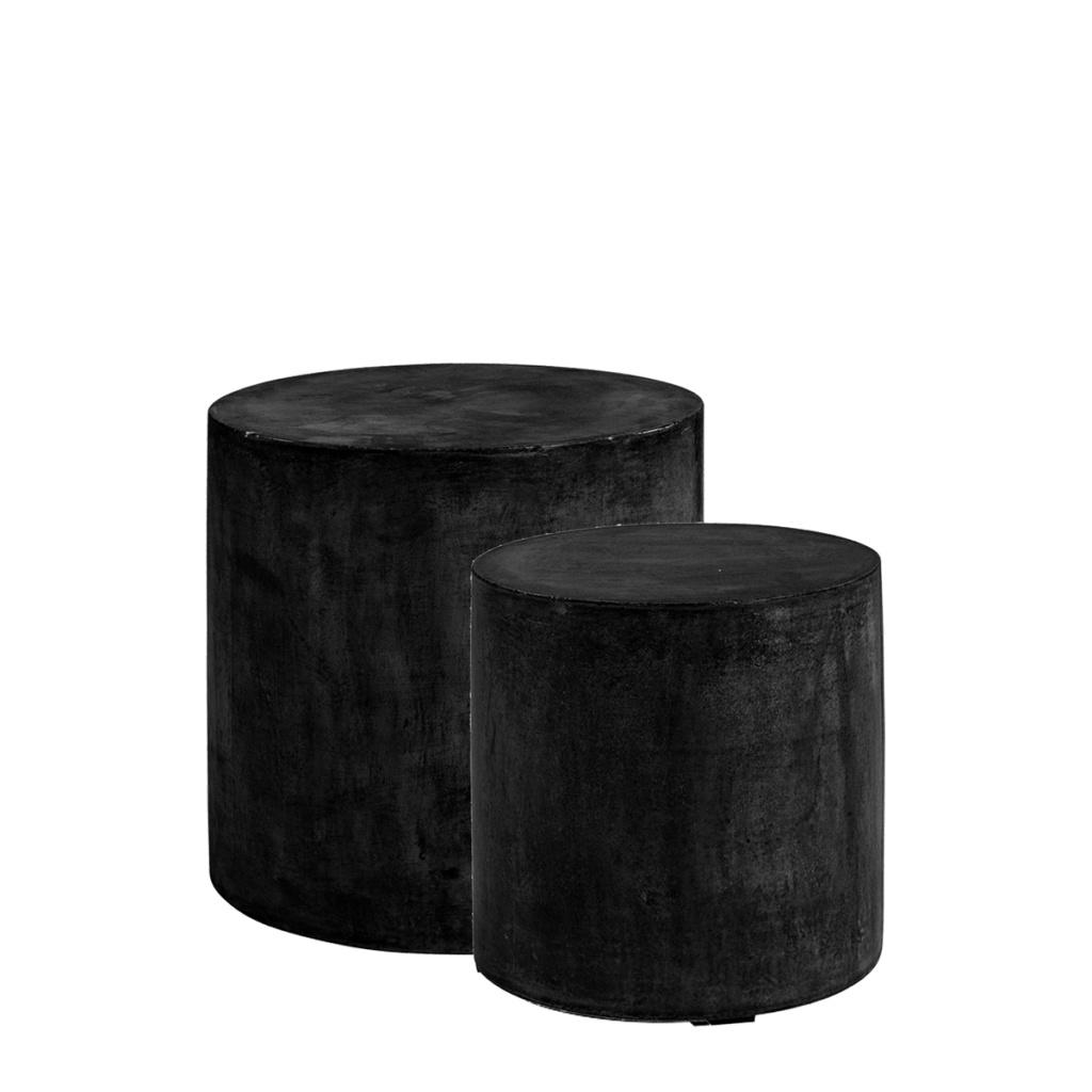 Doloma Sidobord svart 2-set