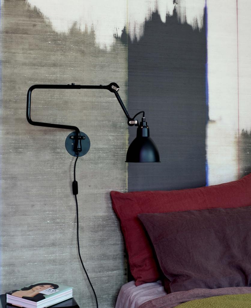 303 inomhus vägglampa svart/svart
