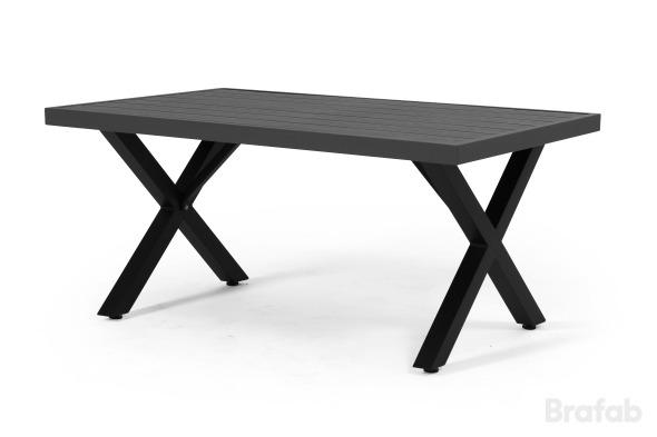 Weldon soffbord 120x75 svart/grå