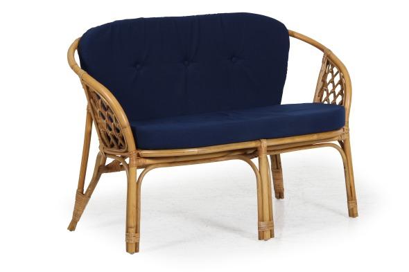 Maria 2-sits soffa inkl. blå dyna