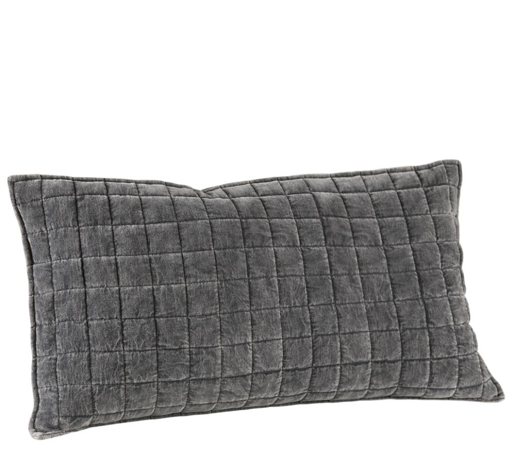 Posh grå kuddfodral 50x90