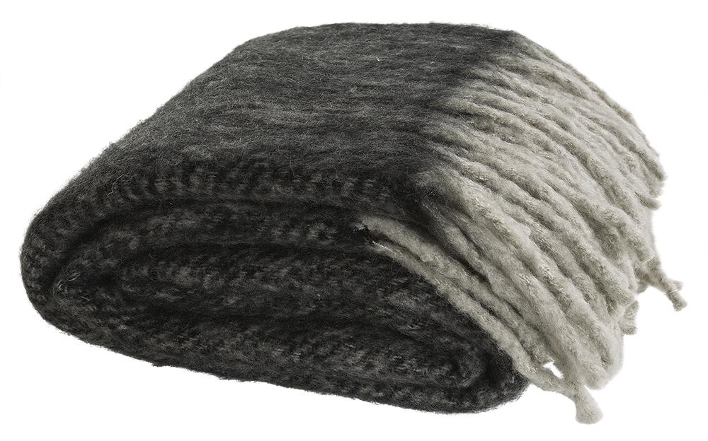 Cosy pläd grå 130x180