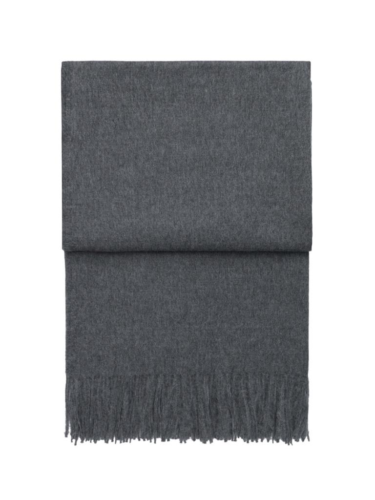 Lyx pläd (grå)