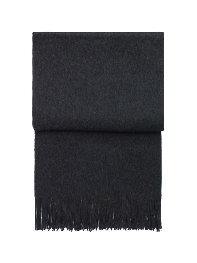Lyx pläd (mörk grå)