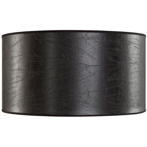 Cylinder lampskärm svart skinn Ø40