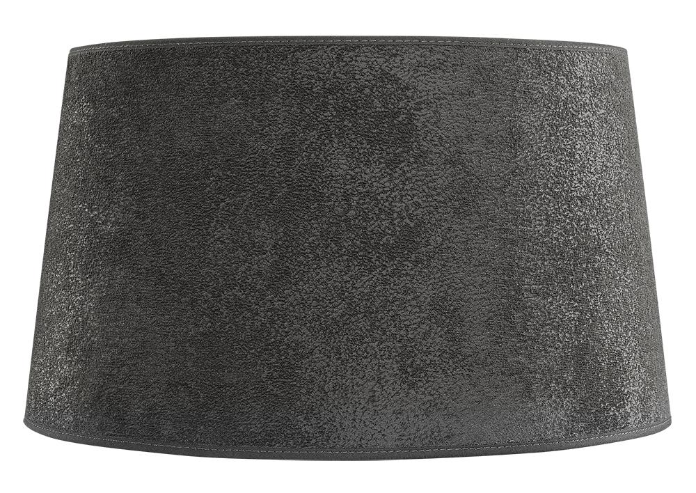 Lampskärm grå mocka Ø35H20