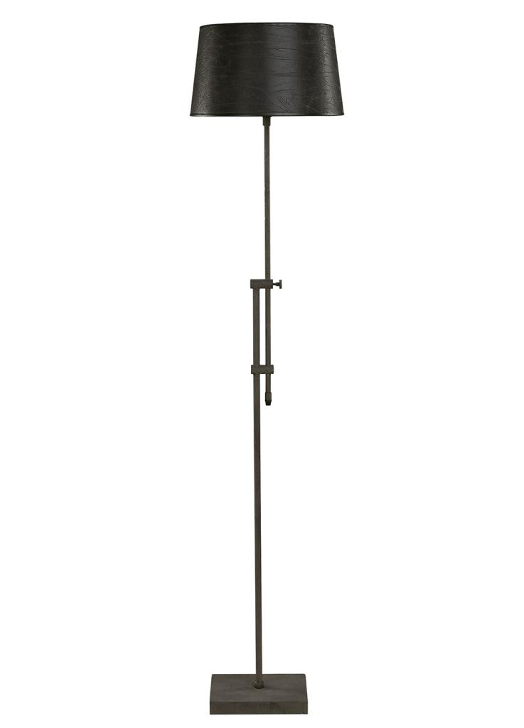 Classic lampskärm svart skinn Ø30-35 cm