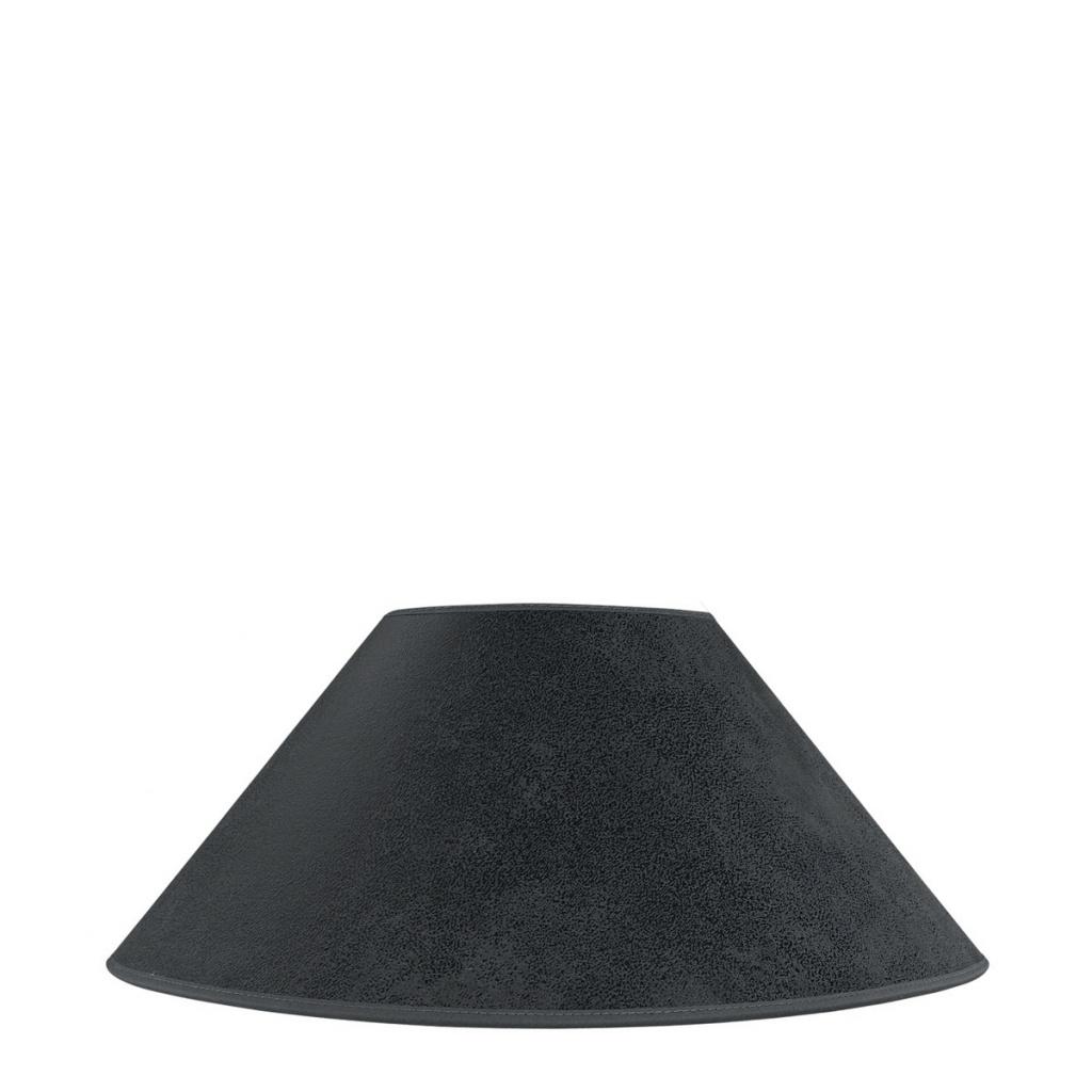Lampskärm grå mocka Ø56