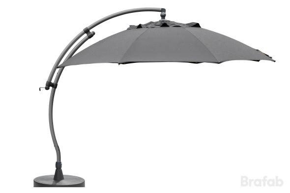 Easy Sun parasoll Ø3,75m antracitgrå inkl.fot
