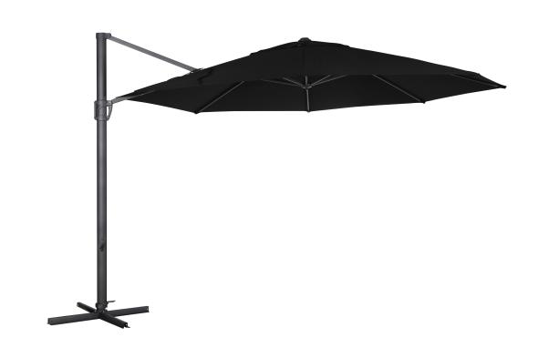 Fiesole parasoll antracit /svart 3.5m