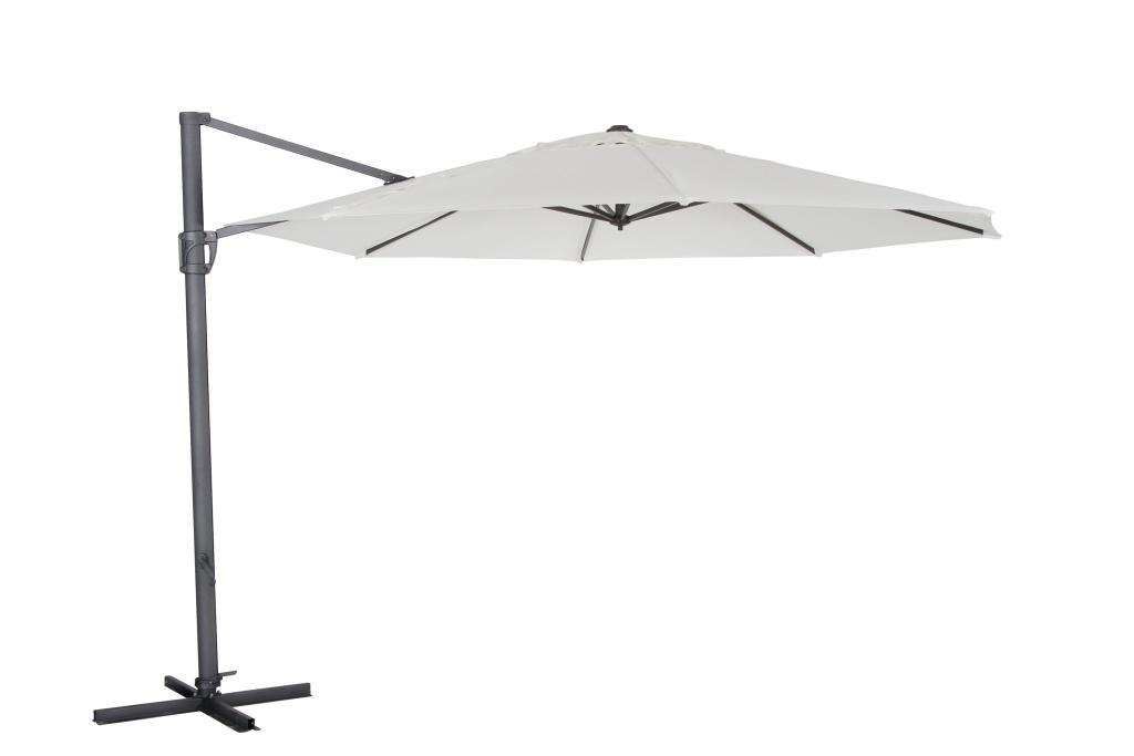 Fiesole parasoll natur/svart 3.5m