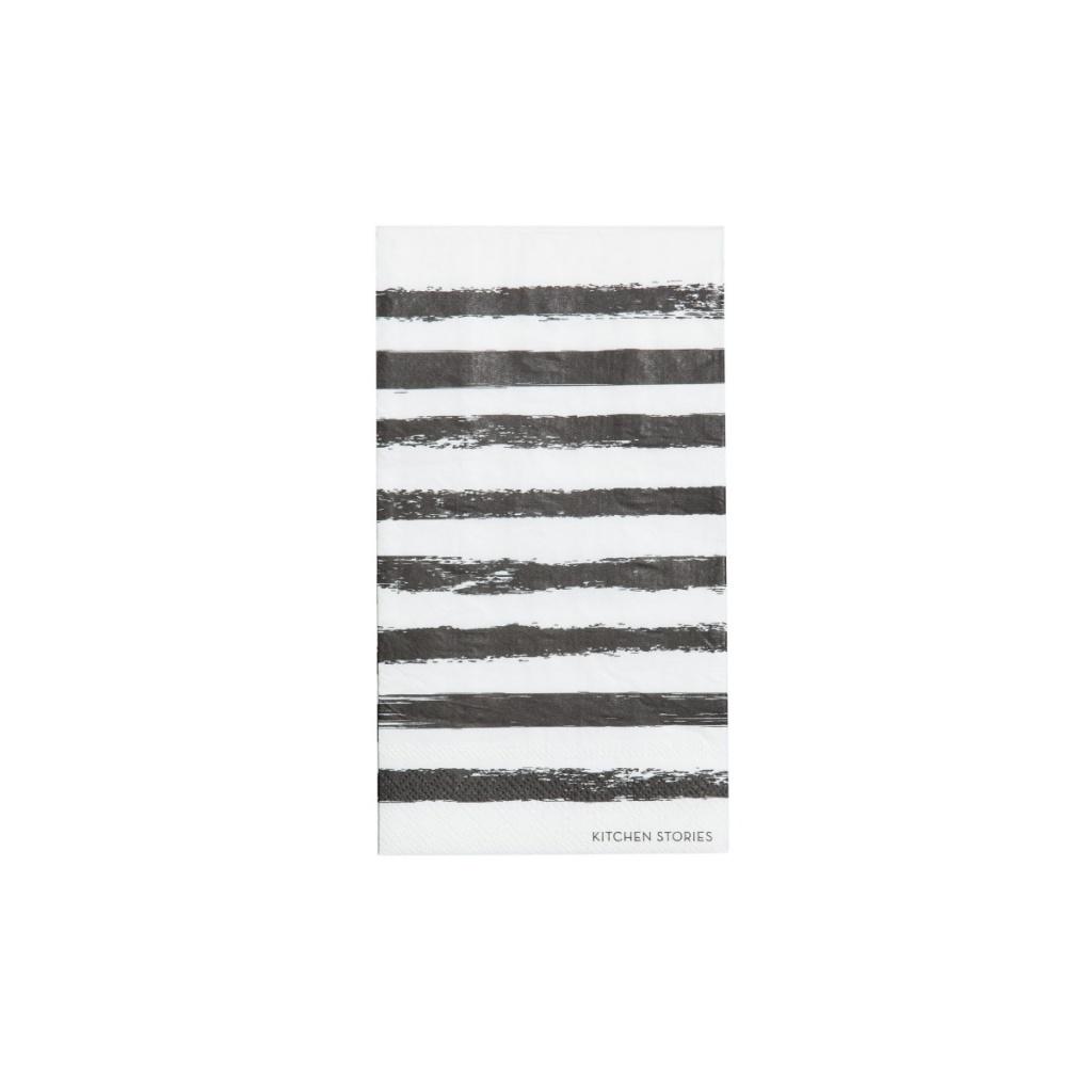 SERVETTER BISCOTTI 20x10 BLACK/WHITE