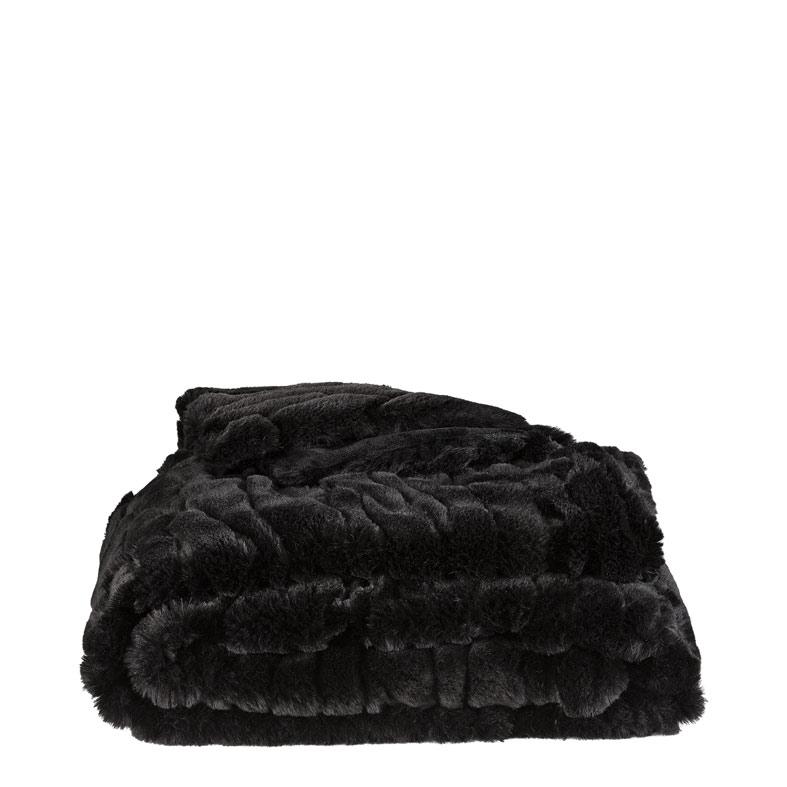 Celine Pläd 127x150 solid black