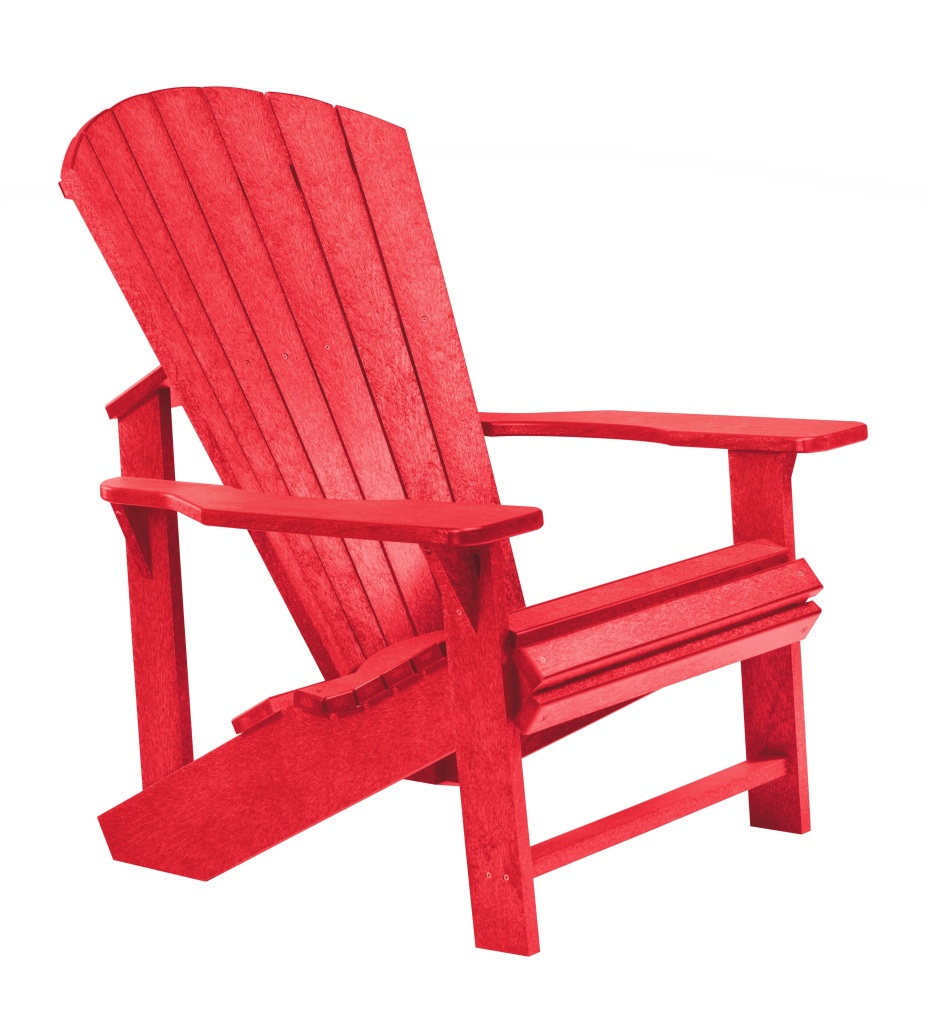 Adirondackstol röd
