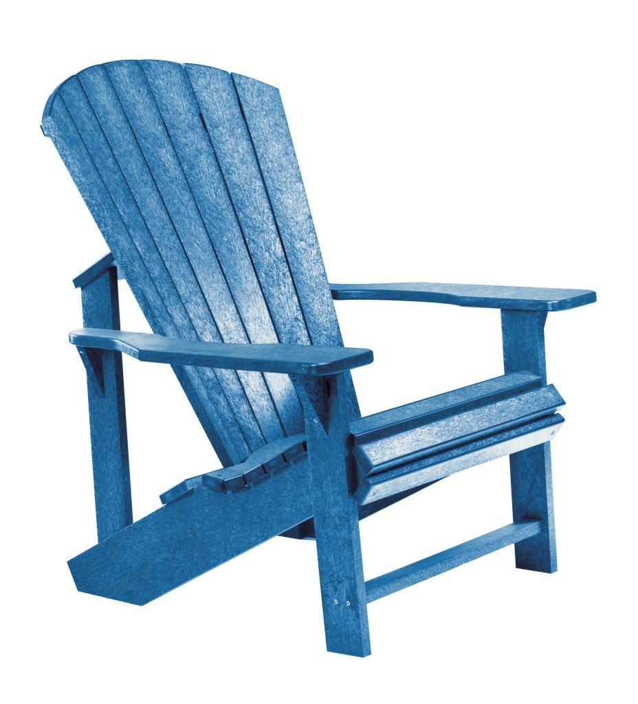 Adirondackstol blå