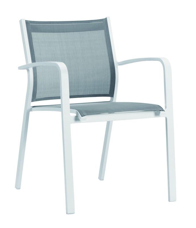 Luis karmstol vit/grå