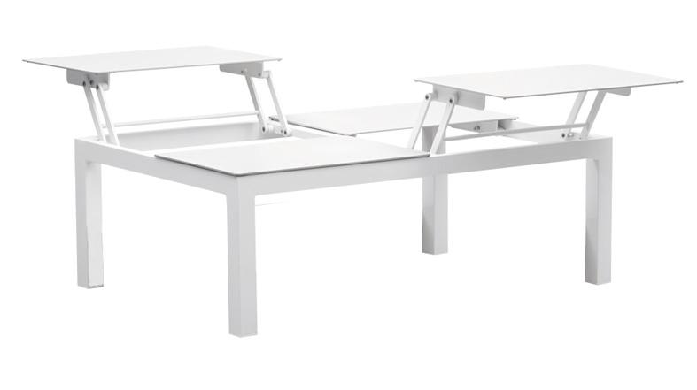 Sedona soffbord 4-lift white