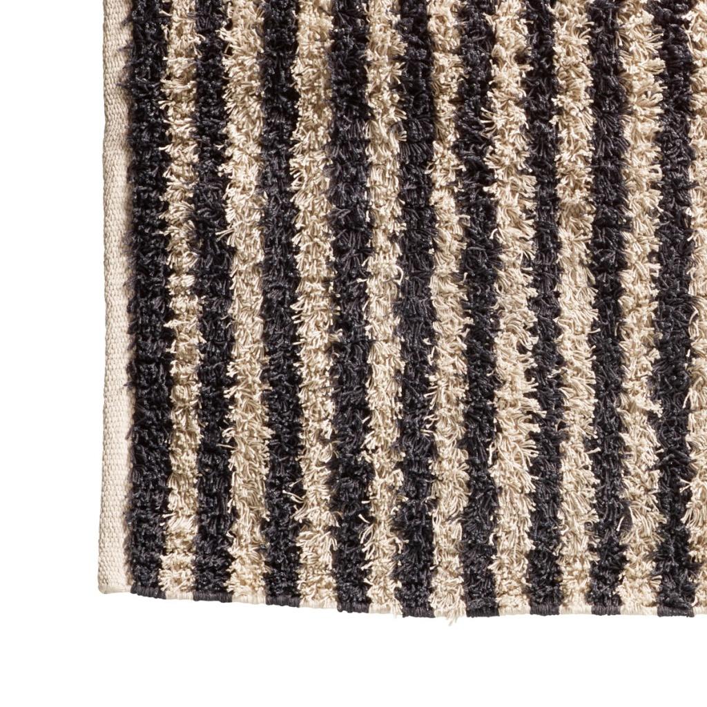 Matta FRILL striped/thunder 140x200