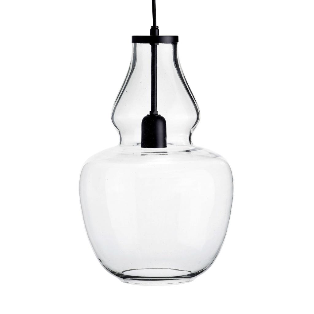 Taklampa, Glass pendant, black top, D25H42