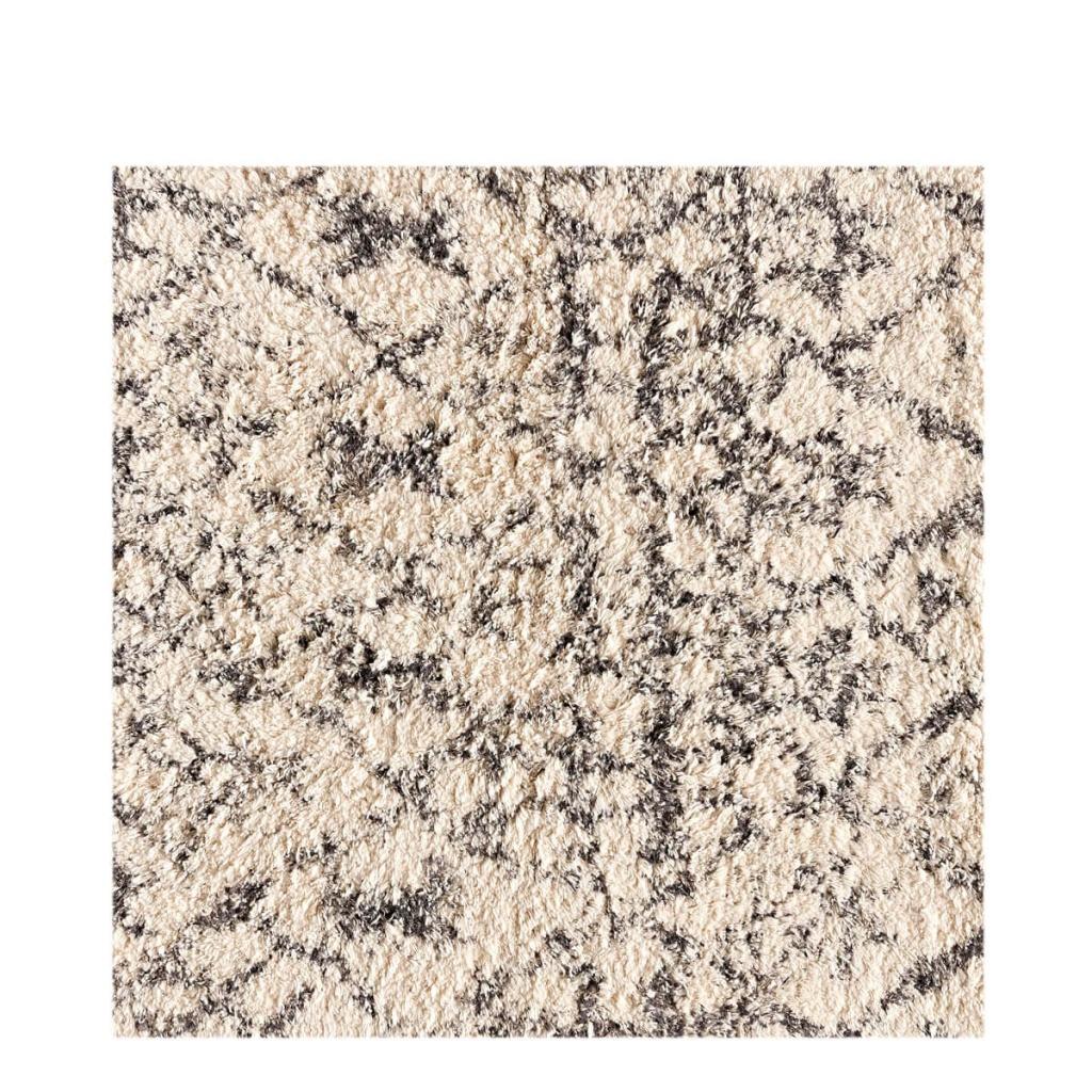 Shaggy Print matta off-white/taupe 80x140