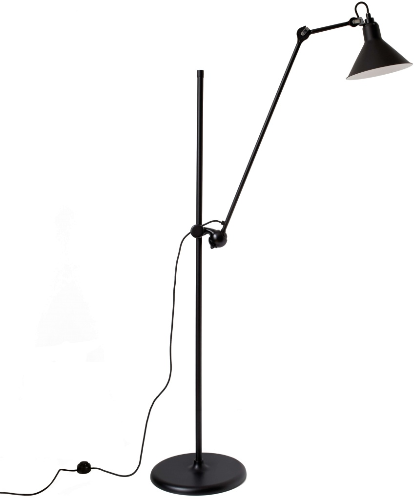 215 golvlampa svart/svart conic